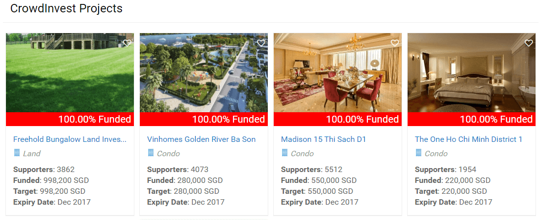 Singapore p2p property investment examples CrowdTo